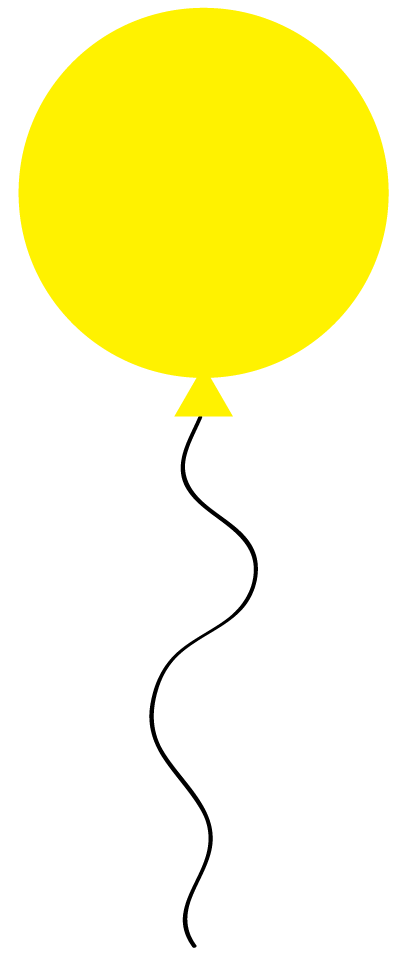 clipart yellow balloons - photo #14