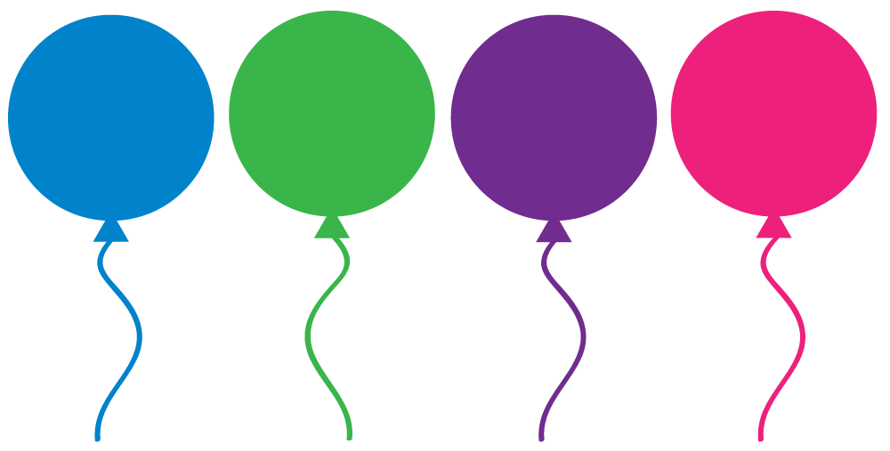 Free Birthday Balloons Clipart For Party Decor, Websites