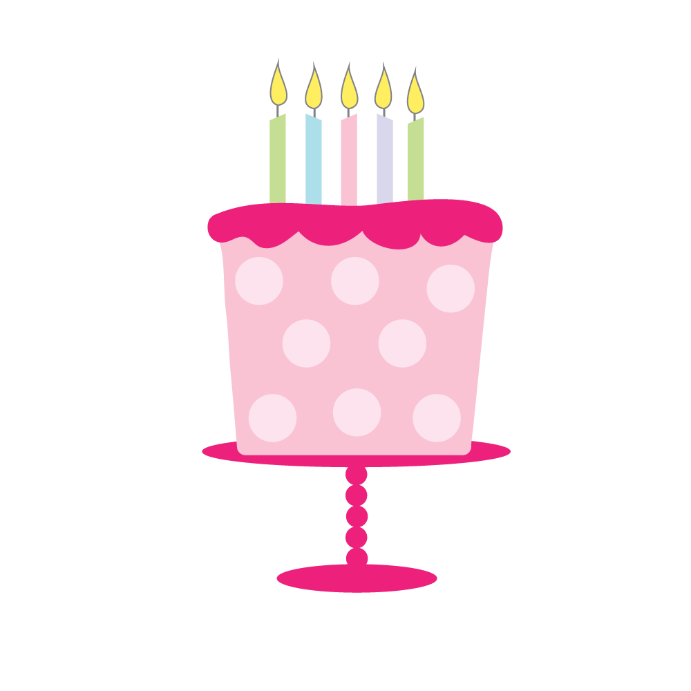 pink birthday cake pink polka dot birthday cake clip art