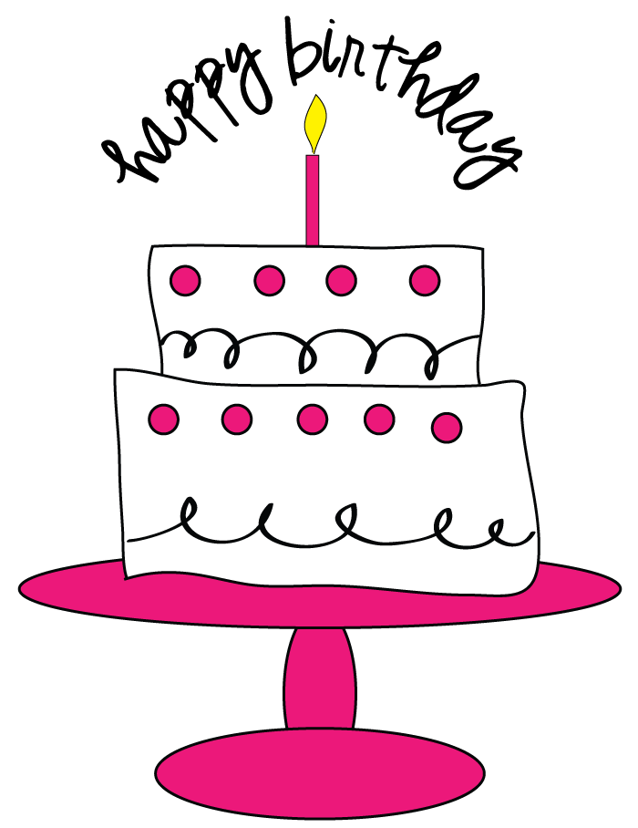 Clip Art Images Of Birthday Cake : Free Birthday Cake Clipart for craft projects, websites ...