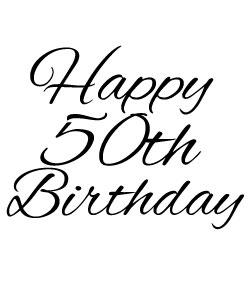 50th Birthday Clipart