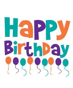 Happy Birthday Balloons Clipart Graphics