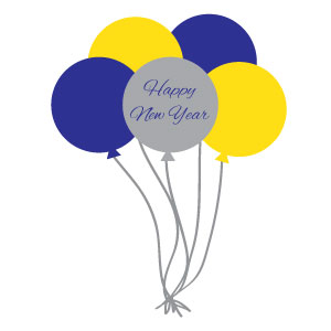 New Years Balloons Clipart