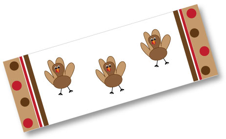 Free Turkey Clip Art! Candy Bar Wrappers, Chocolate Kiss Labels ...
