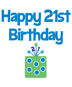 21st birthday clipart