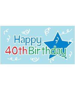 40th birthday party clipart