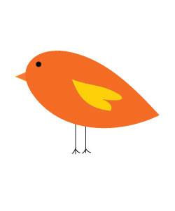 autumn bird clipart